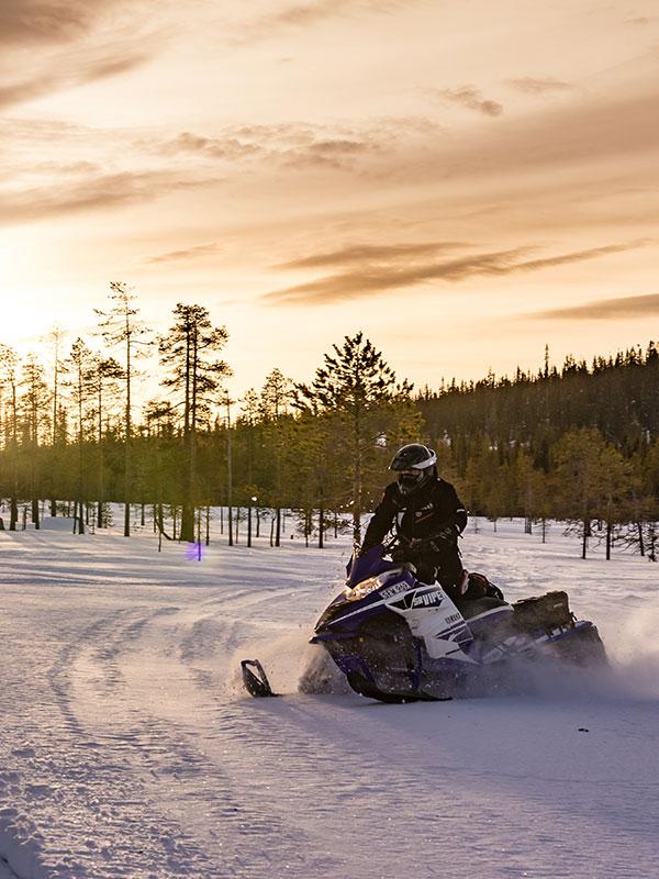 Étudiants internationaux moto-neige